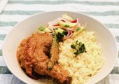 Ayam Ros Nasi Minyak and Acar Food Delivery