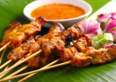 Halal Satay from Teaffani   Chicken and Beef Skewer